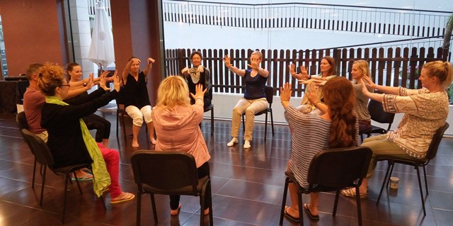 Teaching Mindful Movement in a chair