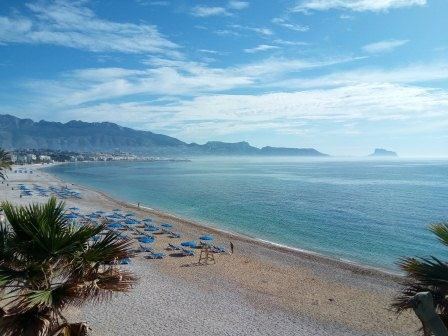 View of the beach in Albir, minutes from the training venue